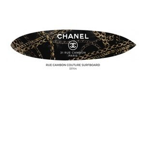 Chanel Exclusive Wall Art Surfboard by Oliver Gal